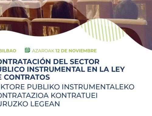 Jornada AVS sobre Contratación pública en Bilbao el próximo 12 de Noviembre