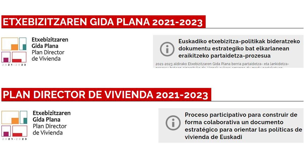 El Plan Director de Vivienda recogerá la opinión de 40.000 personas
